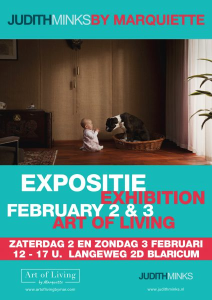 poster for exhibition Minks by Marquette, feb 2-3 2019, Blaricum, The Netherlands