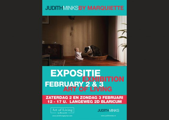 poster for exhibition Minks by Marquette feb 2-3 2019 Blaricum, The Netherlands